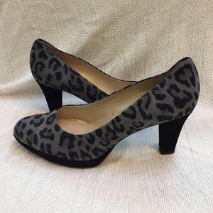 Peter Kaiser Velia Gray Leopard pumps. NWT! Size 8